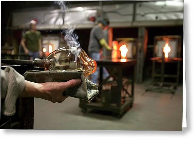 Glass Blowing Greeting Card by Jim West