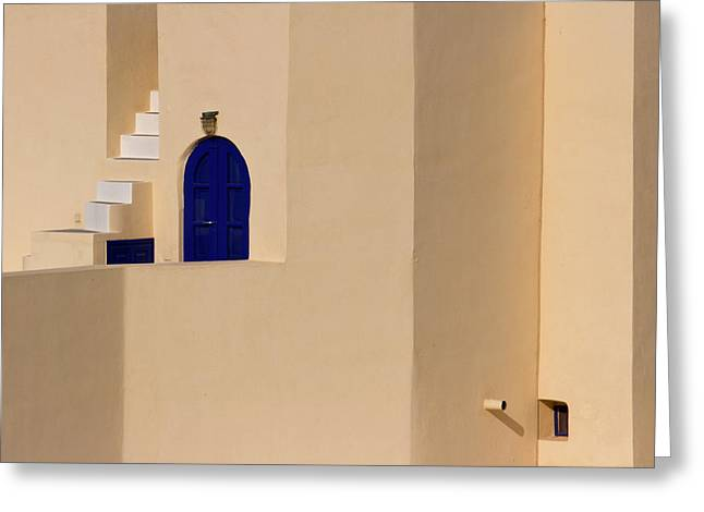Greece, Santorini, Thira, Oia Greeting Card