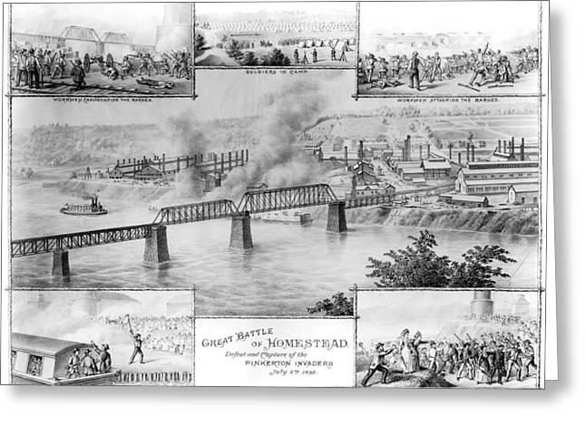 Homestead Strike, 1892 Greeting Card by Granger