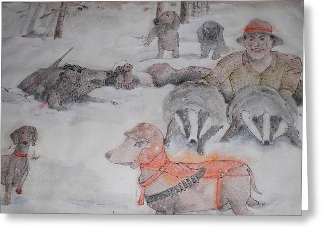 Hunting Season Comes Again Album Greeting Card