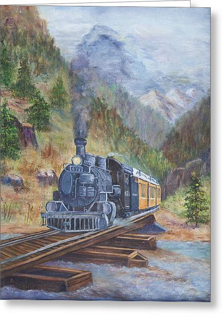 Whistle Blow Greeting Card by Frances Lewis