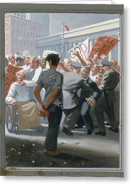 10. Jesus Before The People / From The Passion Of Christ - A Gay Vision Greeting Card by Douglas Blanchard