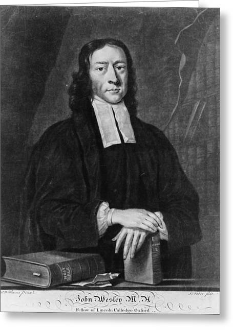 John Wesley (1703-1791) Greeting Card by Granger