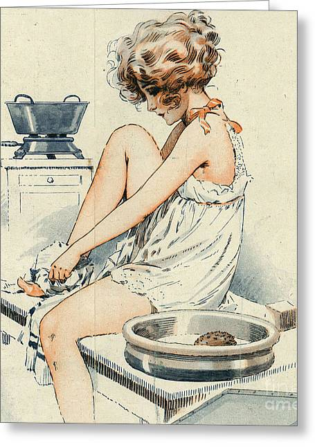 La Vie Parisienne 1919 1910s France Greeting Card by The Advertising Archives