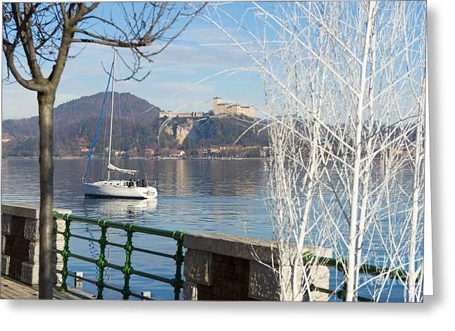 Lakefront Greeting Card by Mats Silvan