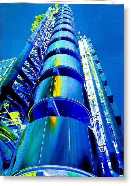 Lloyd's Building London Art Greeting Card
