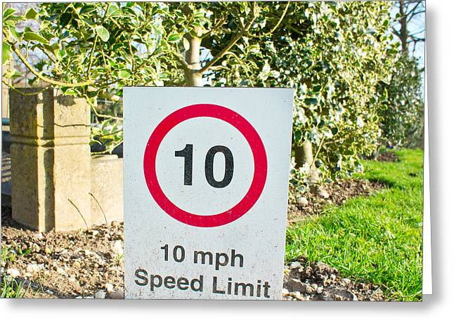10 Miles Per Hour Greeting Card