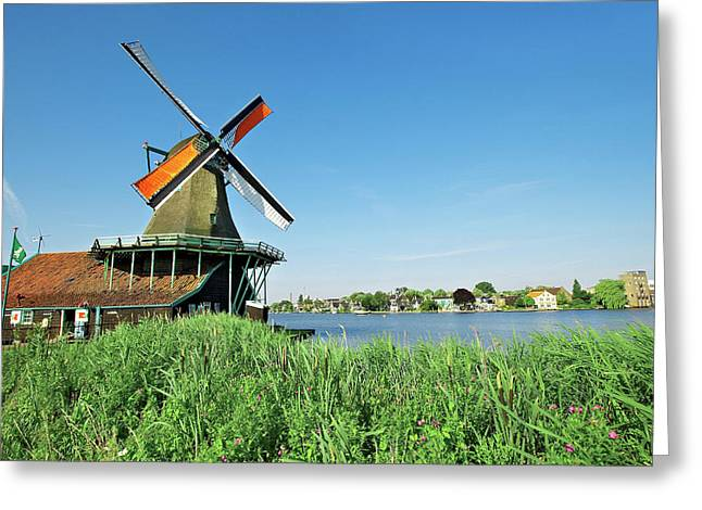 Netherlands, North Holland, Zaanstad Greeting Card by Miva Stock