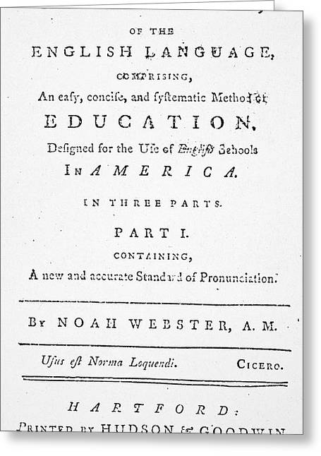 Noah Webster (1758-1843) Greeting Card