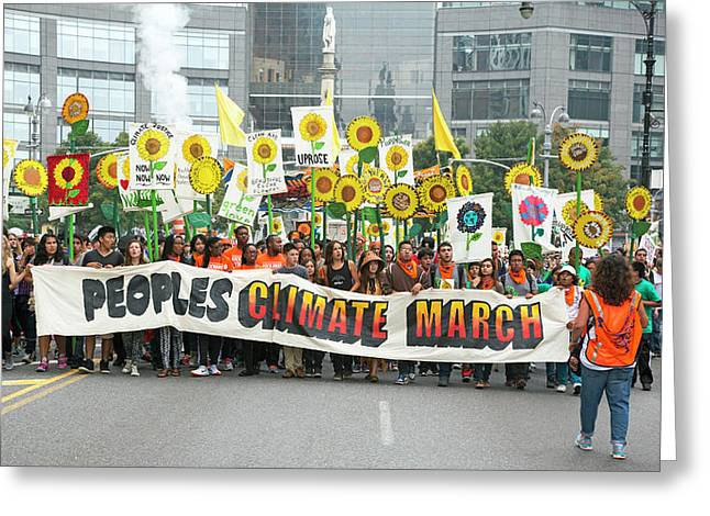 People's Climate March Greeting Card by Jim West