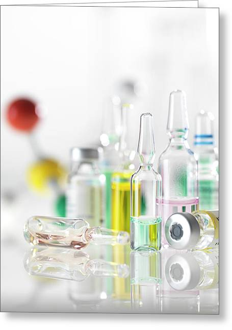 Pharmaceutical Research Greeting Card by Tek Image
