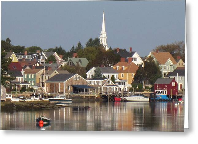 New Castle Harbor Nh Greeting Card