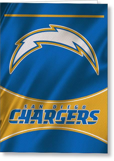 San Diego Chargers Uniform Greeting Card by Joe Hamilton