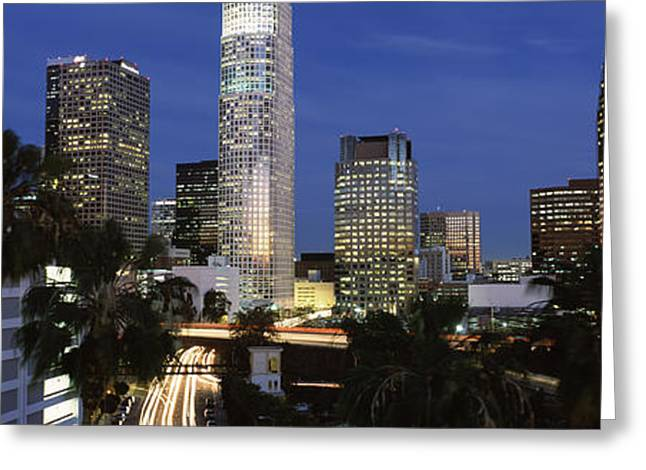 Skyscrapers In A City, City Of Los Greeting Card by Panoramic Images