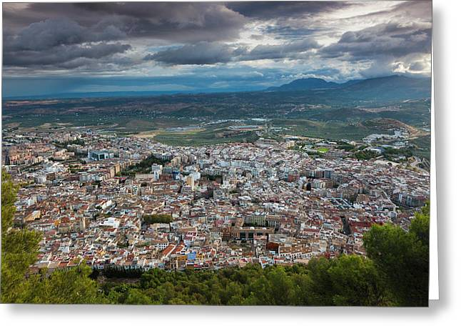 Spain, Andalucia Region, Jaen Province Greeting Card by Walter Bibikow