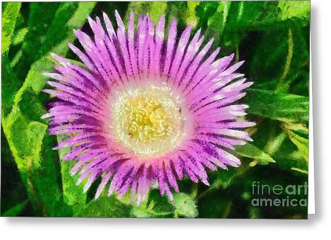 Spring Wild Flower Greeting Card by George Atsametakis