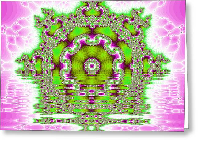 The Kaleidoscope Reflections Greeting Card by Odon Czintos
