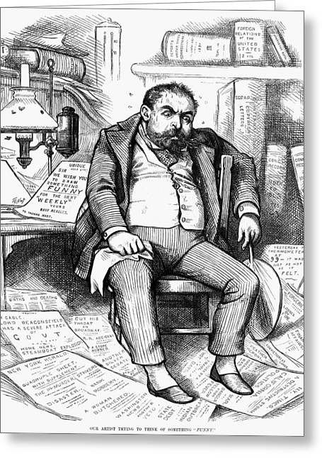 Thomas Nast (1840-1902) Greeting Card by Granger