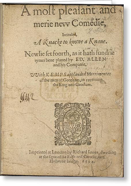Title Page Greeting Card