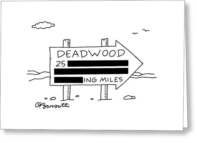 New Yorker March 14th, 2005 Greeting Card by Charles Barsotti
