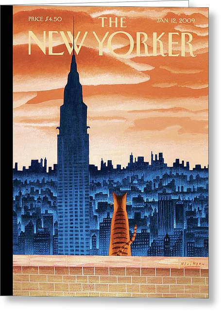 New Yorker January 12th, 2009 Greeting Card by Mark Ulriksen