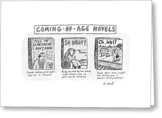 New Yorker June 11th, 2007 Greeting Card by Roz Chast
