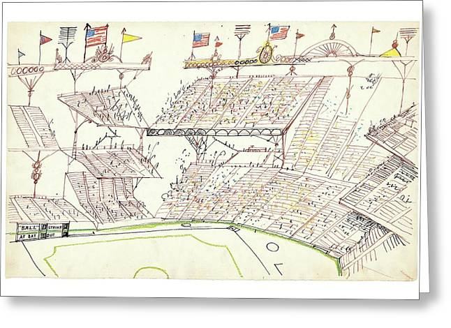 New Yorker November 22nd, 2004 Greeting Card by Saul Steinberg