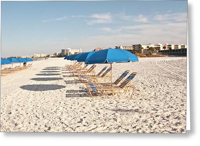 Usa, Florida, Sarasota, Crescent Beach Greeting Card by Bernard Friel