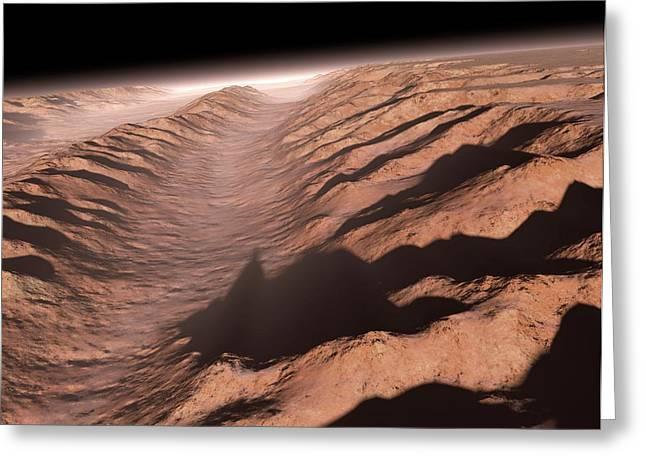 Valles Marineris Greeting Card by Detlev Van Ravenswaay