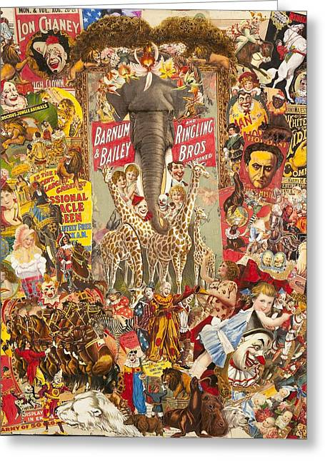 Vintage Circus Collection Greeting Card by Jonell Restivo