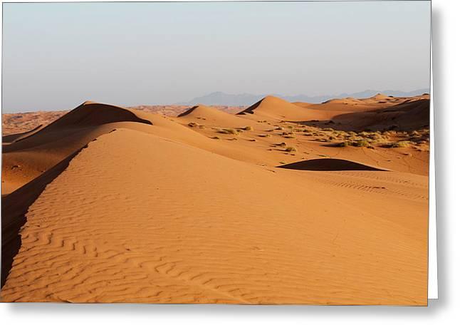 Wahiba Sands Desert, Oman Greeting Card by Sergio Pitamitz