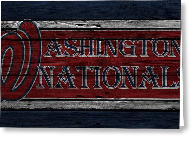 Washington Nationals Greeting Card by Joe Hamilton