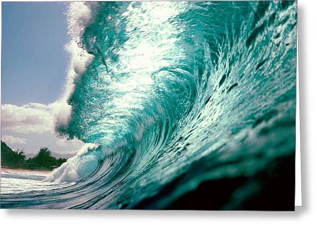 Waves Splashing In The Sea Greeting Card by Panoramic Images