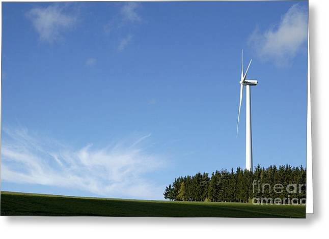 Wind Turbine Greeting Card