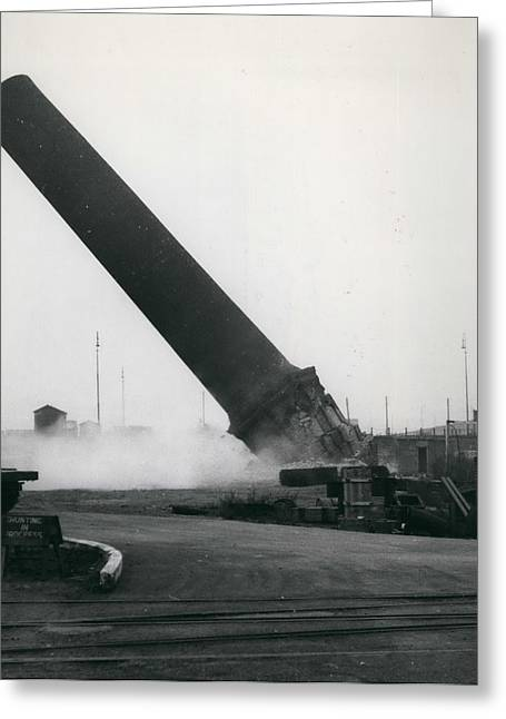 100-foot Chimney Stack Demolished At Silvertown Greeting Card by Retro Images Archive