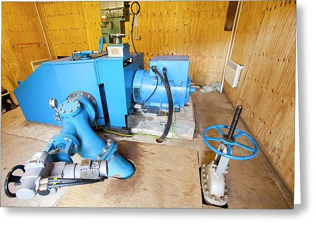 100 Kw Hydro Turbine At Laig Greeting Card