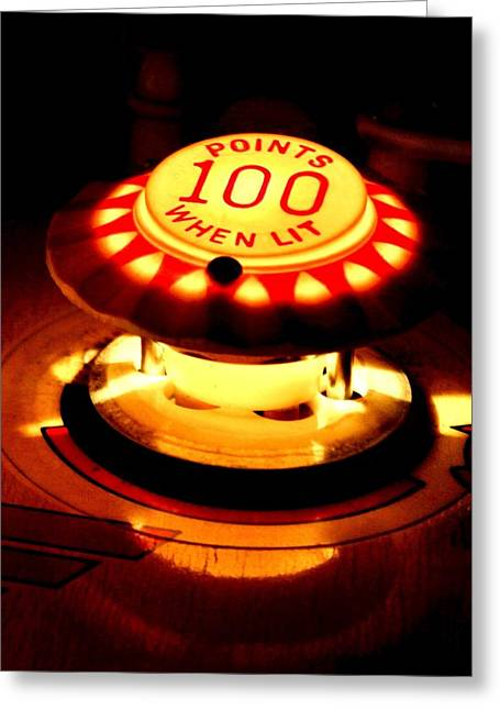 100 Points When Lit Greeting Card by Benjamin Yeager