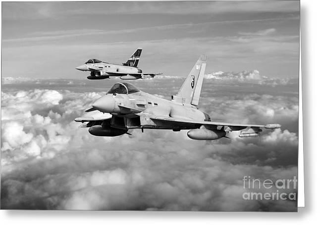 100 Years Of 3 Squadron - Mono  Greeting Card by J Biggadike