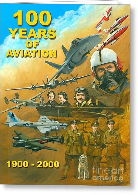 Greeting Card featuring the painting 100 Years Of Aviation by Michael Swanson