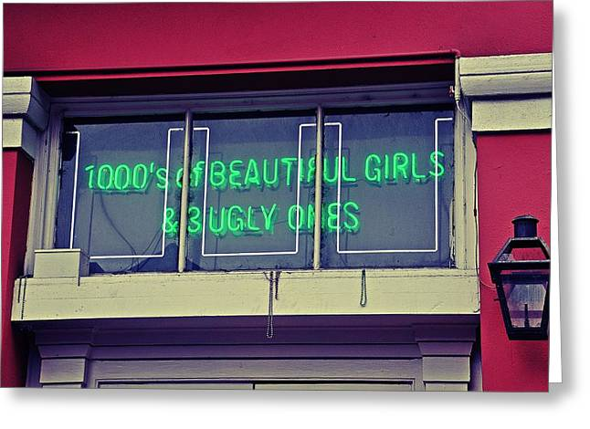 1000's Of Beautiful Girls Sign  Greeting Card