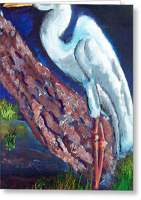 1004397egret Greeting Card