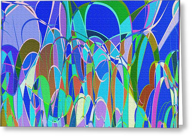 1014 Abstract Thought Greeting Card by Chowdary V Arikatla