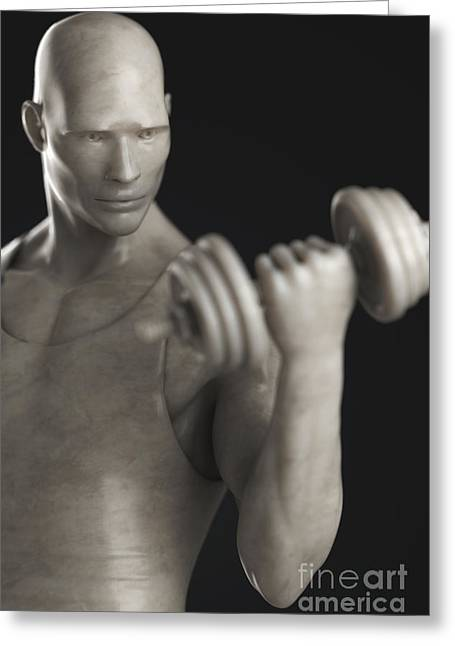 Exercise Workout Greeting Card by Science Picture Co