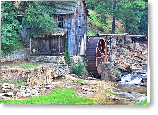 Sixes Mill On Dukes Creek - Square Greeting Card