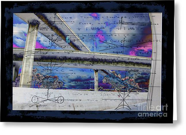 105/110 Cross Freeway Overpass Greeting Card by RJ Aguilar