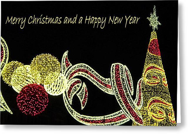 106 - Malaga Christmas Lights   Greeting Card by Patrick King