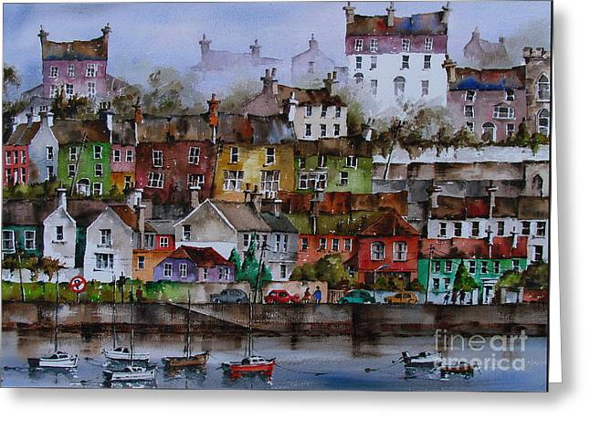 107 Windows Of Kinsale Co Cork Greeting Card