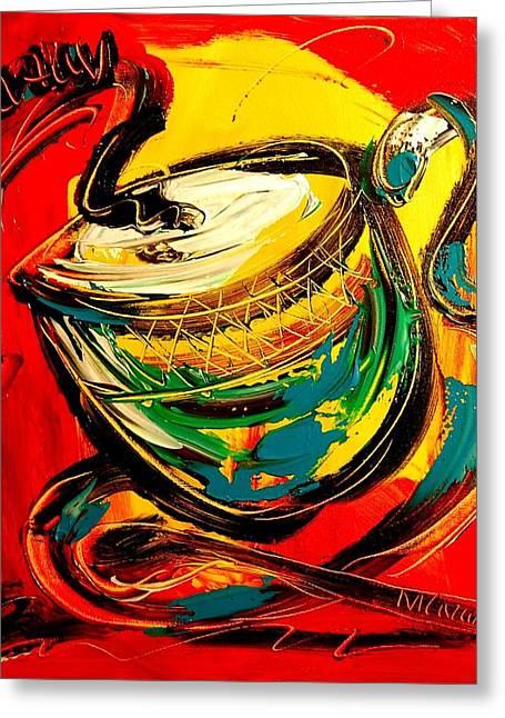 Coffee Greeting Card by Mark Kazav