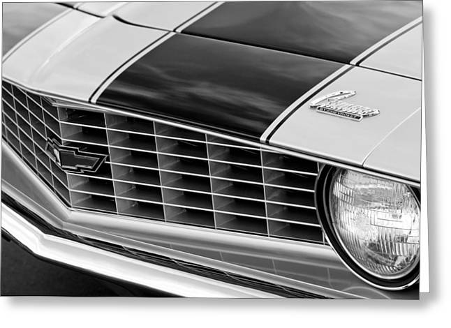 1969 Chevrolet Camaro Z 28 Grille Emblem Greeting Card