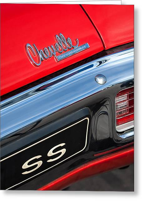 1970 Chevrolet Chevelle Ss Taillight Emblem Greeting Card by Jill Reger